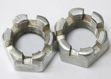 Hexagon Slotted Metric Castle Nuts , Hardware Fasteners Heavy Hex Jam Nut